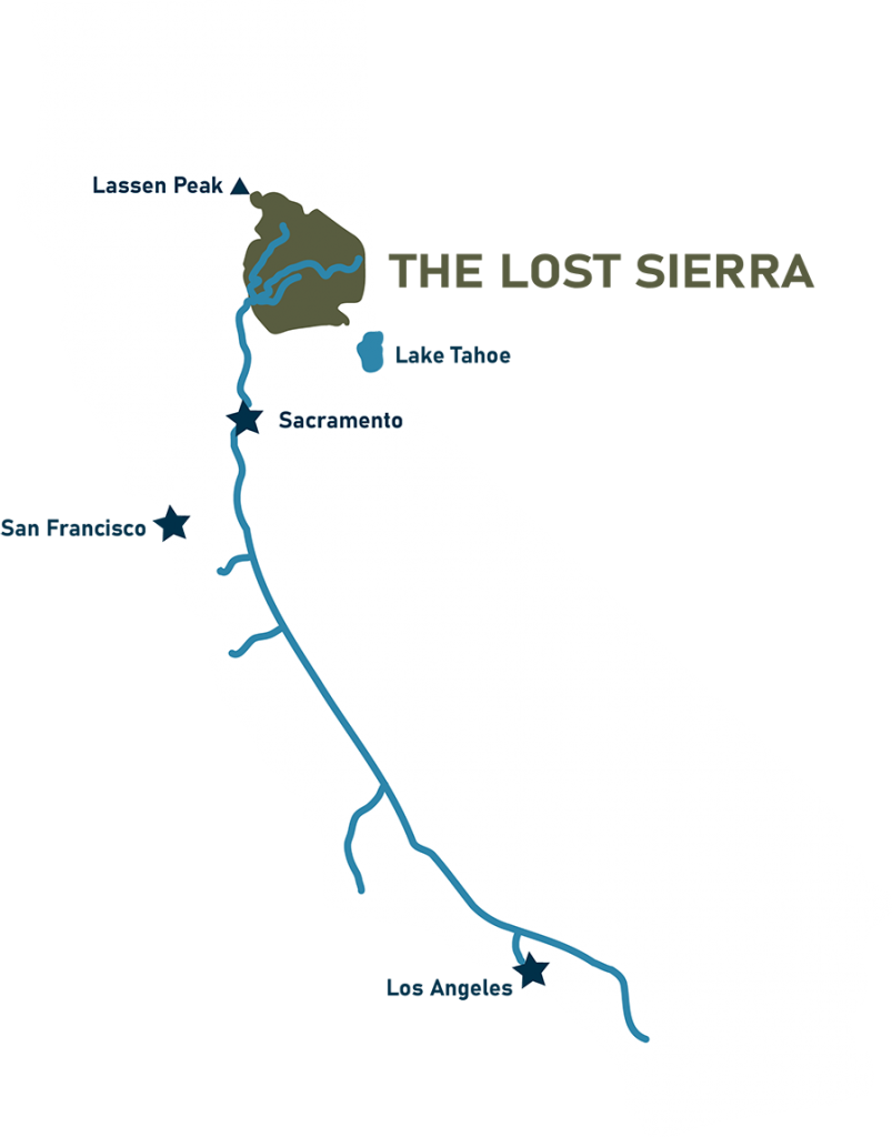 map of the lost sierra